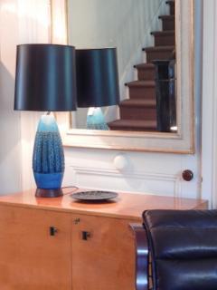 Mid Century Blue Bitossi Lamp - 1505298