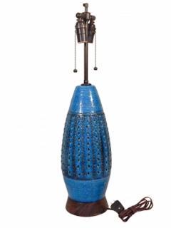 Mid Century Blue Bitossi Lamp - 1505301