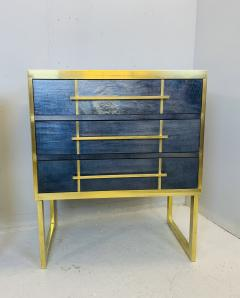 Mid Century Blue Black Chest of Drawers Italy  - 1708256