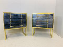 Mid Century Blue Black Chest of Drawers Italy  - 1708257