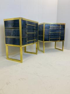Mid Century Blue Black Chest of Drawers Italy  - 1708258