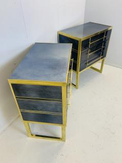 Mid Century Blue Black Chest of Drawers Italy  - 1708260