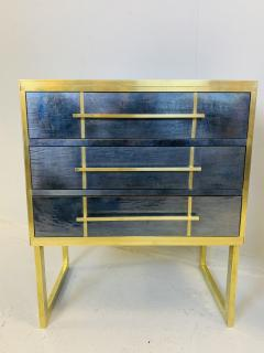 Mid Century Blue Black Chest of Drawers Italy  - 1708262