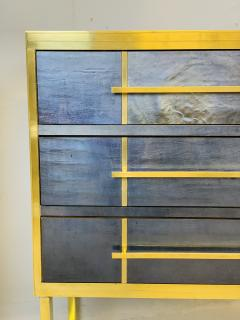 Mid Century Blue Black Chest of Drawers Italy  - 1708263