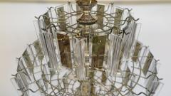 Mid Century Brass Glass and Lucite Chandelier - 767492
