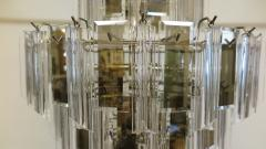 Mid Century Brass Glass and Lucite Chandelier - 767496