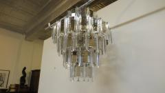 Mid Century Brass Glass and Lucite Chandelier - 767498