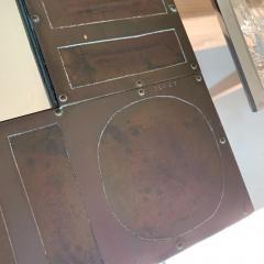 Mid Century Brass Mirror by Blazy - 1137339
