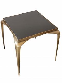 Mid Century Bronze Stiletto Leg Italian Table - 1758104