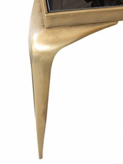 Mid Century Bronze Stiletto Leg Italian Table - 1758106