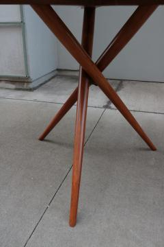 Mid Century Center Table With Fine Inlaid Stone Top - 1855677
