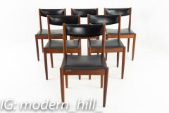 Mid Century Danish Furniture Makers Control Walnut Dining Chairs Set of 6 - 1869850