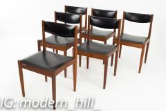 Mid Century Danish Furniture Makers Control Walnut Dining Chairs Set of 6 - 1869851