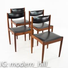Mid Century Danish Furniture Makers Control Walnut Dining Chairs Set of 6 - 1869853