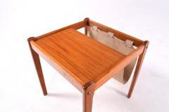 Mid Century Danish Teak Side Table and Magazine Rack 1960s - 1669613
