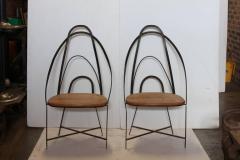 Mid Century French Handmade Iron Chairs - 686984