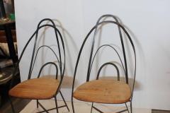 Mid Century French Handmade Iron Chairs - 686985