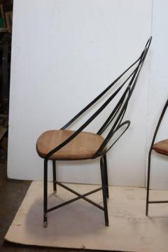 Mid Century French Handmade Iron Chairs - 686986