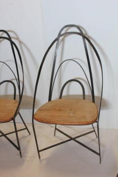 Mid Century French Handmade Iron Chairs - 686987