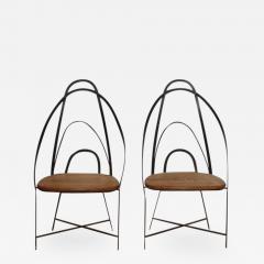 Mid Century French Handmade Iron Chairs - 687479
