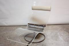 Mid Century French Lucite and Steel Chaise Longue Prototype - 374668