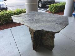 Mid Century French Sculptural Slate Table - 605844