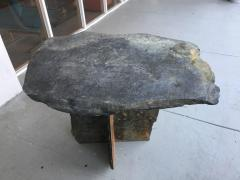Mid Century French Sculptural Slate Table - 605846