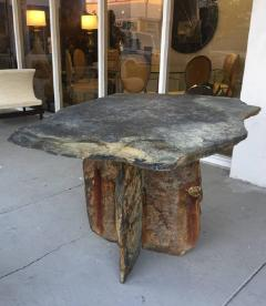Mid Century French Sculptural Slate Table - 605849
