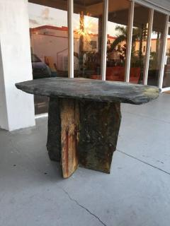 Mid Century French Sculptural Slate Table - 605850