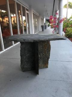 Mid Century French Sculptural Slate Table - 605851