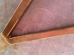 Mid Century Grey Marble and Brass Coffee Table Italy 1960s - 1297523