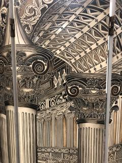 Mid Century Italian Architectural 6 Panel Room Screen - 1354052