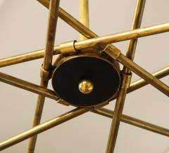 Mid Century Italian Black and Brass Sputnik Chandelier - 2057742