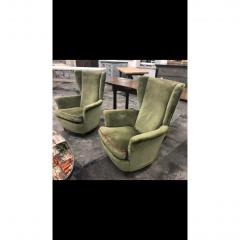 Mid Century Italian Lounge Chairs by Gio Ponti a Pair - 1356029