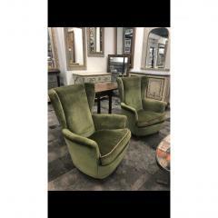 Mid Century Italian Lounge Chairs by Gio Ponti a Pair - 1356030
