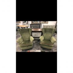 Mid Century Italian Lounge Chairs by Gio Ponti a Pair - 1356032