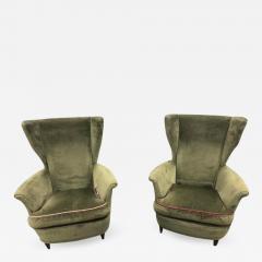 Mid Century Italian Lounge Chairs by Gio Ponti a Pair - 1356513