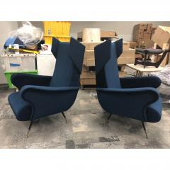 Mid Century Italian Wing Chairs by Marco Zanuso - 1354545