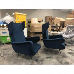 Mid Century Italian Wing Chairs by Marco Zanuso - 1354546
