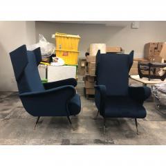 Mid Century Italian Wing Chairs by Marco Zanuso - 1354560