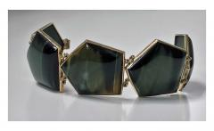 Mid Century Labradorite and Gold Bracelet probably Scandinavian C 1970 - 387190