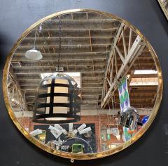 Mid Century Large Circular Brass Mirror Italy 1950s - 1513015