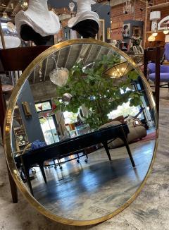 Mid Century Large Circular Brass Mirror Italy 1950s - 1513016