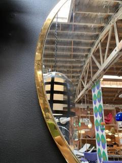 Mid Century Large Circular Brass Mirror Italy 1950s - 1513017