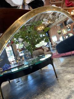 Mid Century Large Circular Brass Mirror Italy 1950s - 1513018