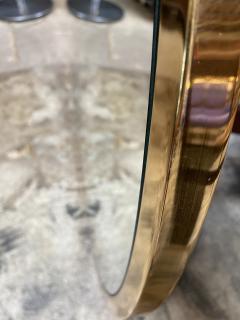 Mid Century Large Circular Brass Mirror Italy 1950s - 1513019