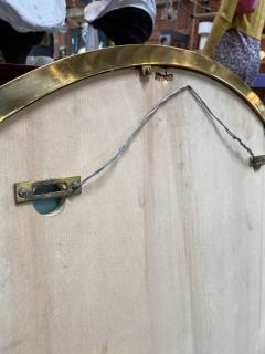 Mid Century Large Circular Brass Mirror Italy 1950s - 1513021
