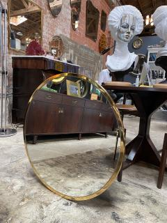 Mid Century Large Circular Brass Mirror Italy 1950s - 1513022