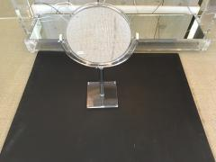 Mid Century Lucite and Chrome Adjustable Table Mirror - 467560