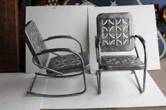 Mid Century Metal Garden Chairs - 687035
